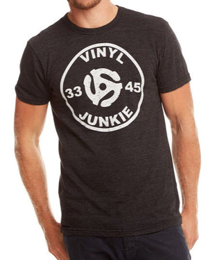 MENS Vinyl Junkie graphic tee