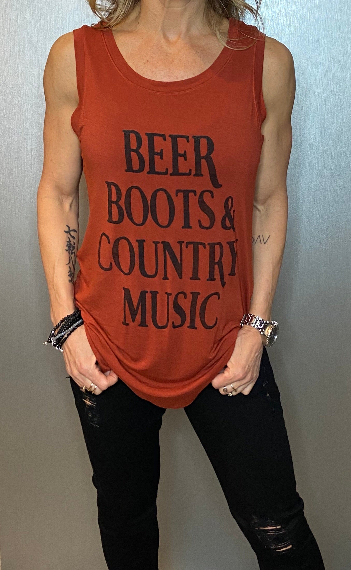 Beer, Boots & County Music Tank