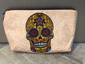 Skull graphic cosmetic/carry all bag
