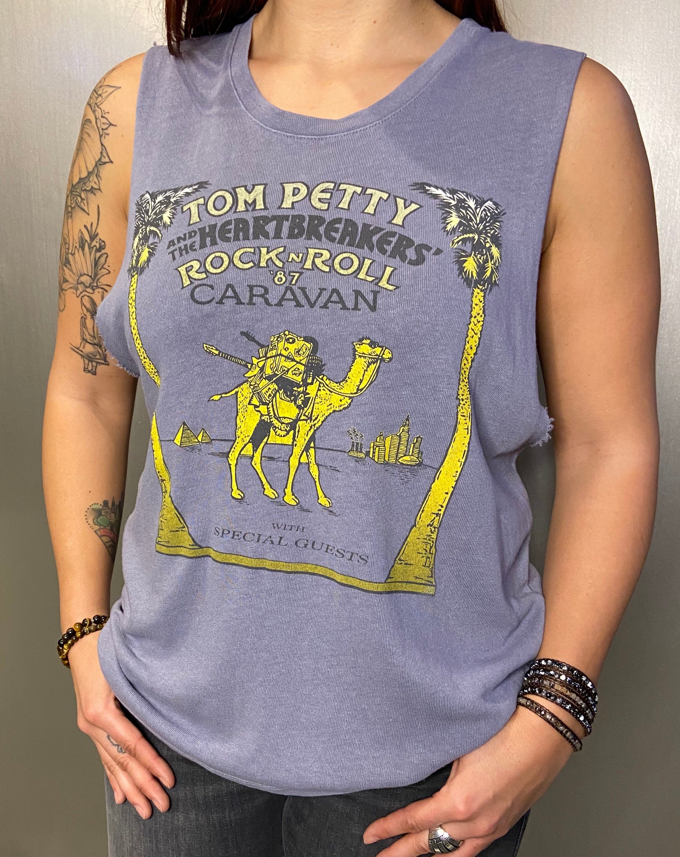 Tom Petty graphic muscle tee