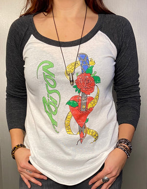 Poison graphic baseball tee