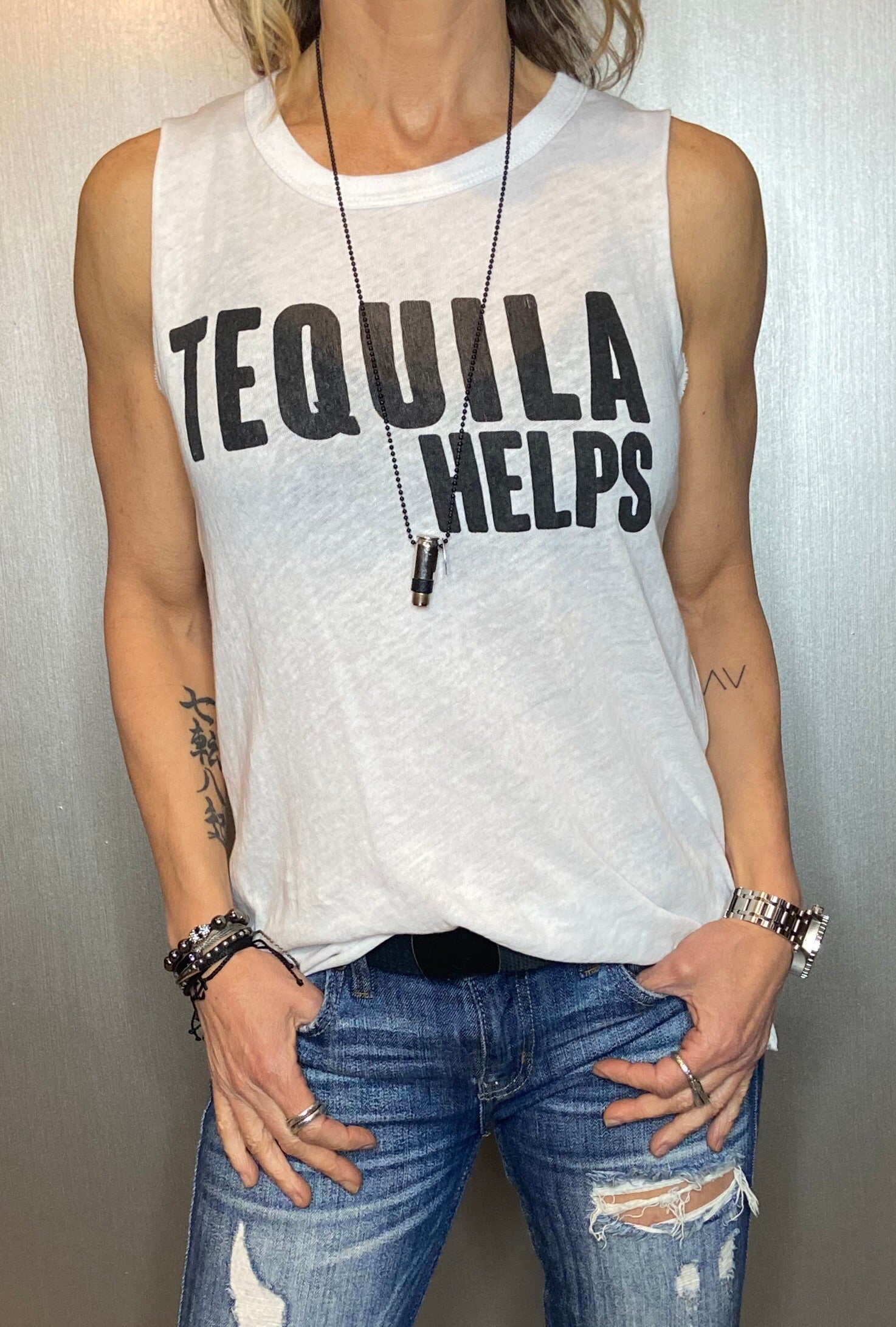 Tequila helps graphic tee