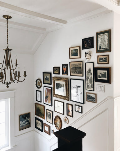 Gallery wall by @withjustine