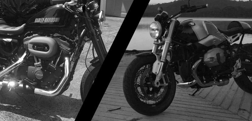 Harley Roadster XL1200cx vs BMW R Nine T