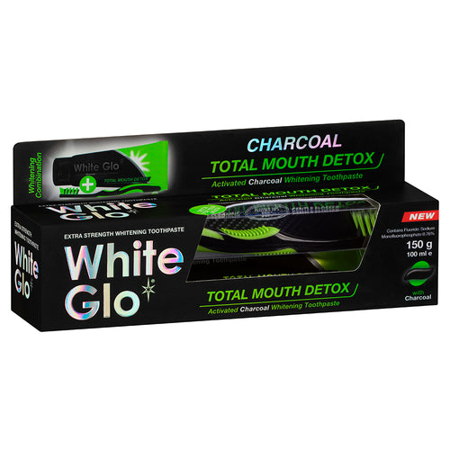 Charcoal Total Mouth Detox Whitening Toothpaste