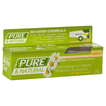 Load image into Gallery viewer, Pure & Natural Whitening Toothpaste With Bamboo Toothbrush