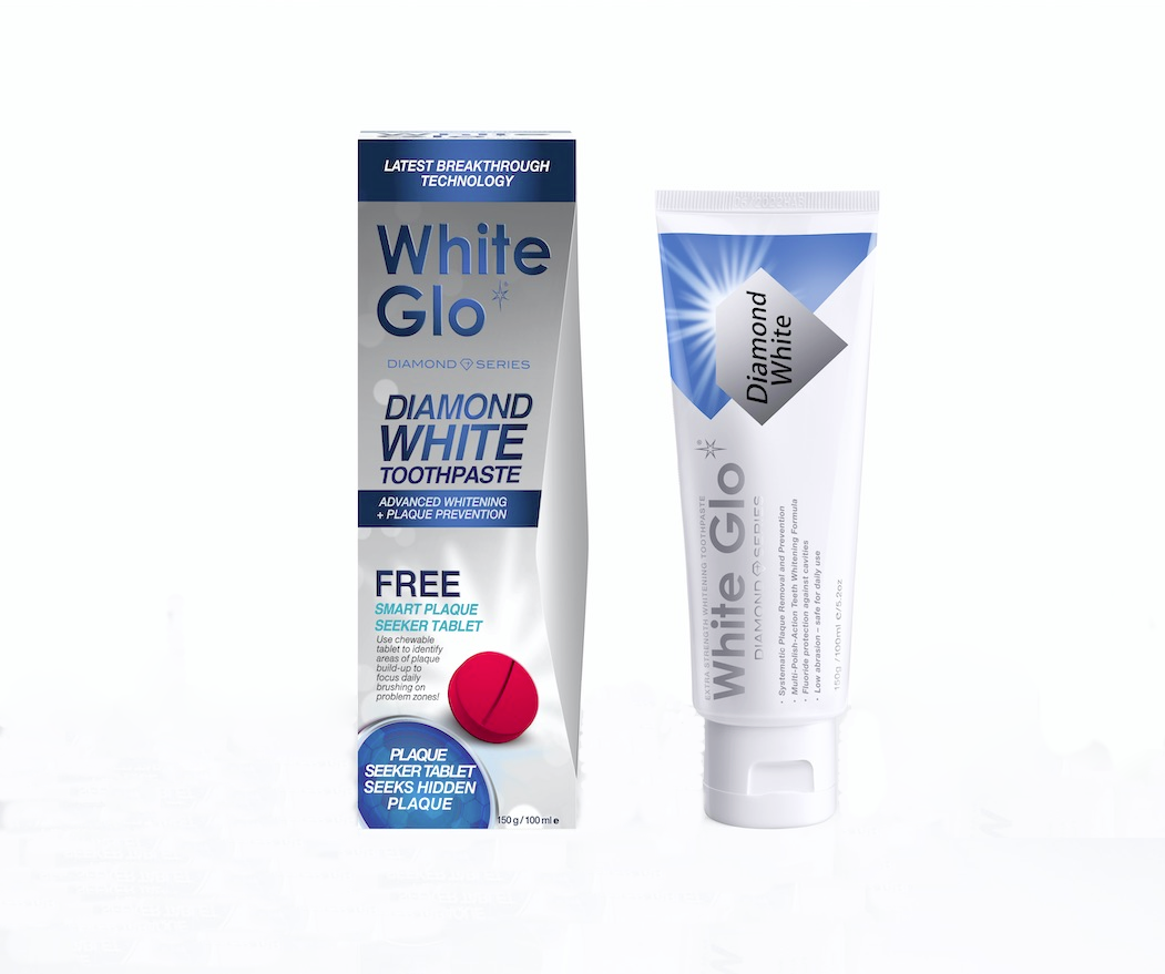 Diamond White Toothpaste With Antiplaque Tablet