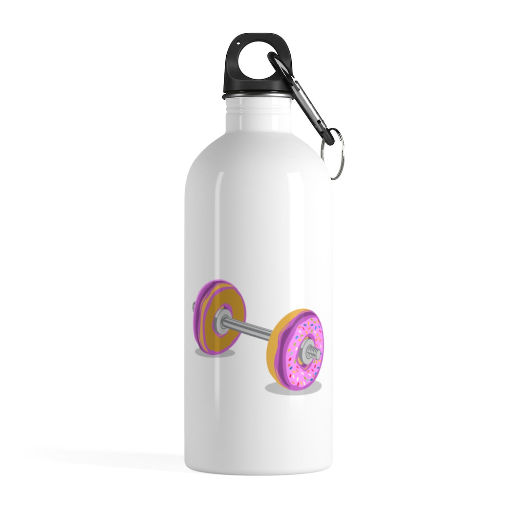 Barbells and Donuts Stainless Steel Water Bottle - UnyieldingFitness