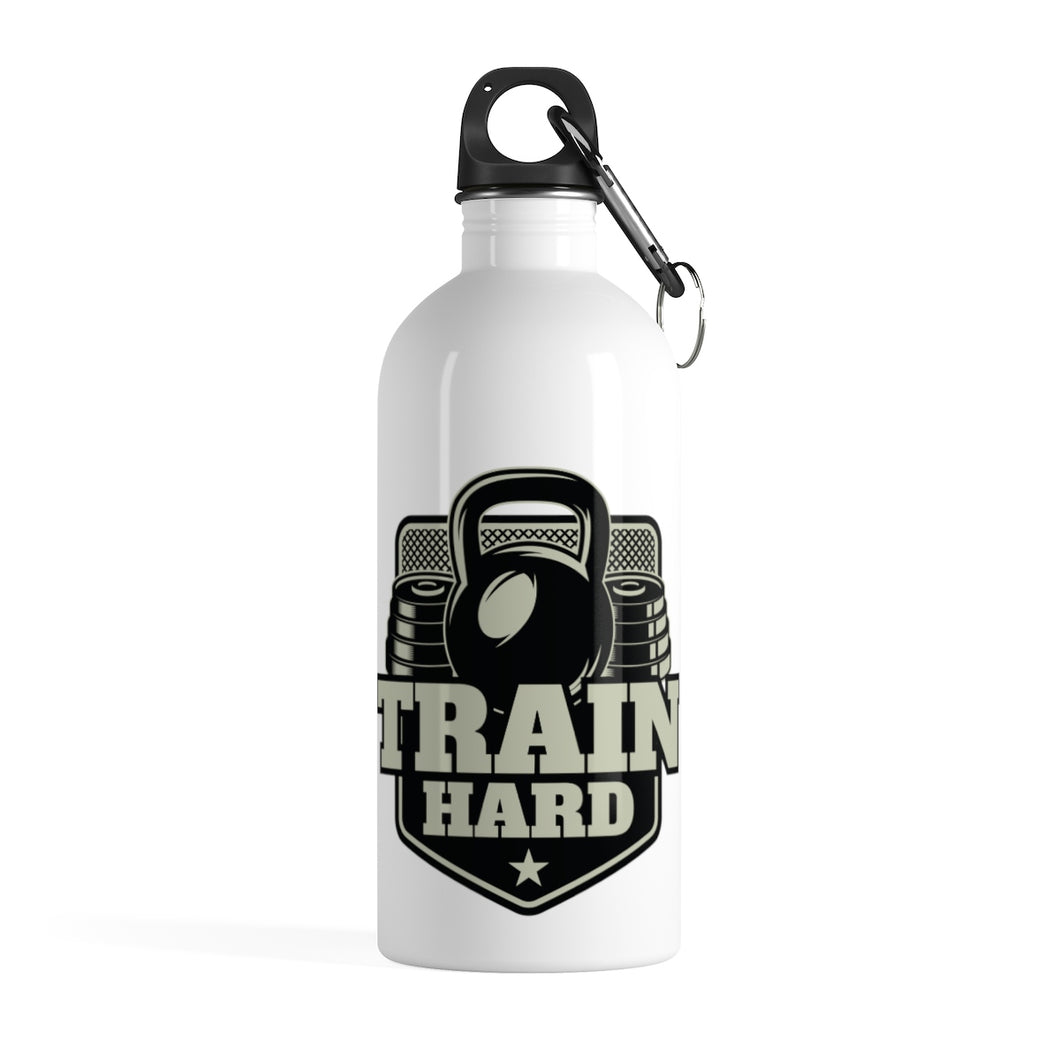 Train Hard Stainless Steel Water Bottle - UnyieldingFitness