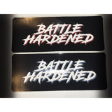 Official Battle Hardened Decal Window Car Sticker Slap - (BLUE / RED)