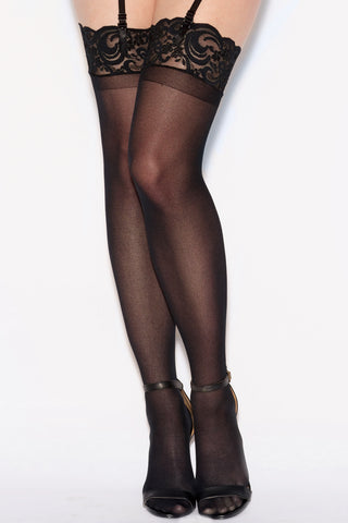 Sheer Lace Top Stockings