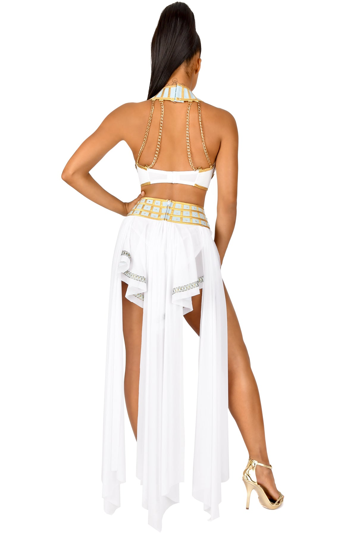 Queen of De Nile High-Waisted Chain Skirt