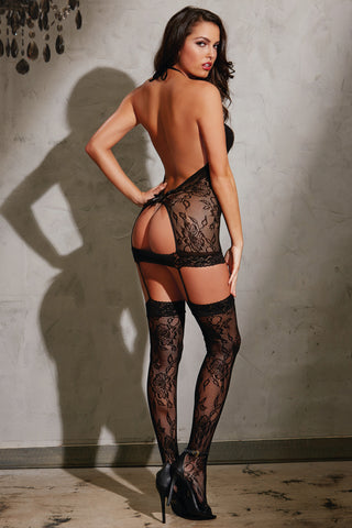 Peek-A-Boo Lace Bodystocking