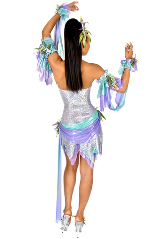 Water Sprite Strapless Dress