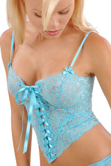 Sterling Long Lace-Up Camisole