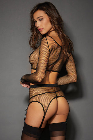 Fishnet Garterbelt Set