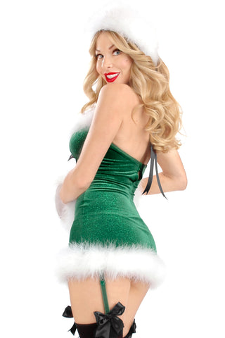 Mistletoe Underwire Chemise with Garters