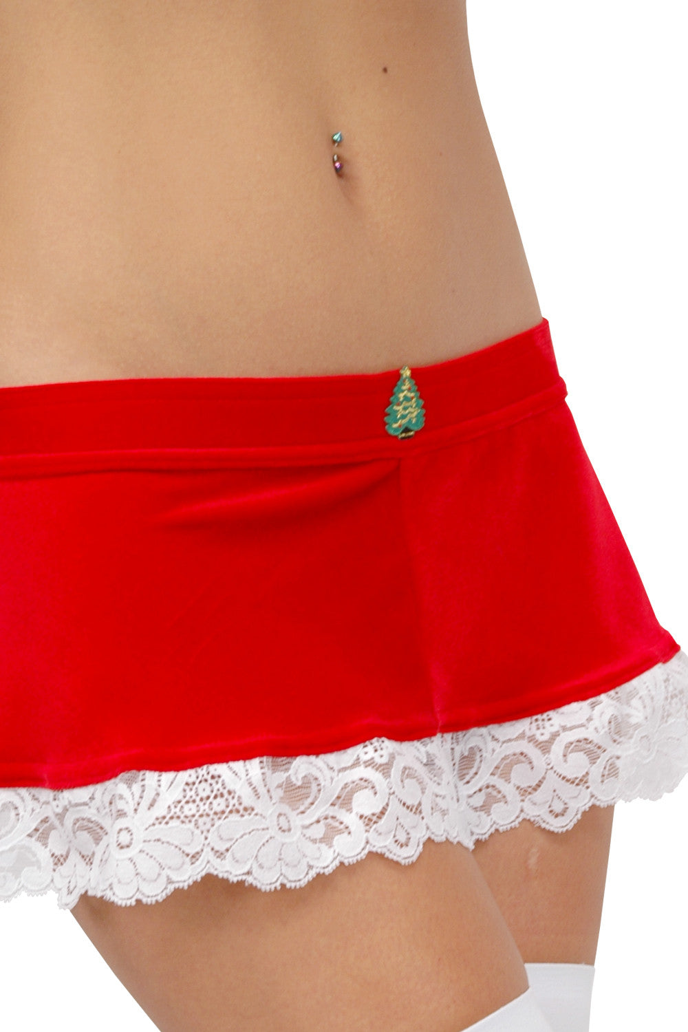 Larrykins Mini Skirt with Christmas Appliqué