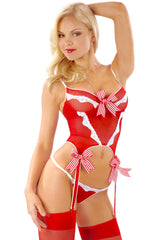 Sheer Peppermint Underwire Camigarter