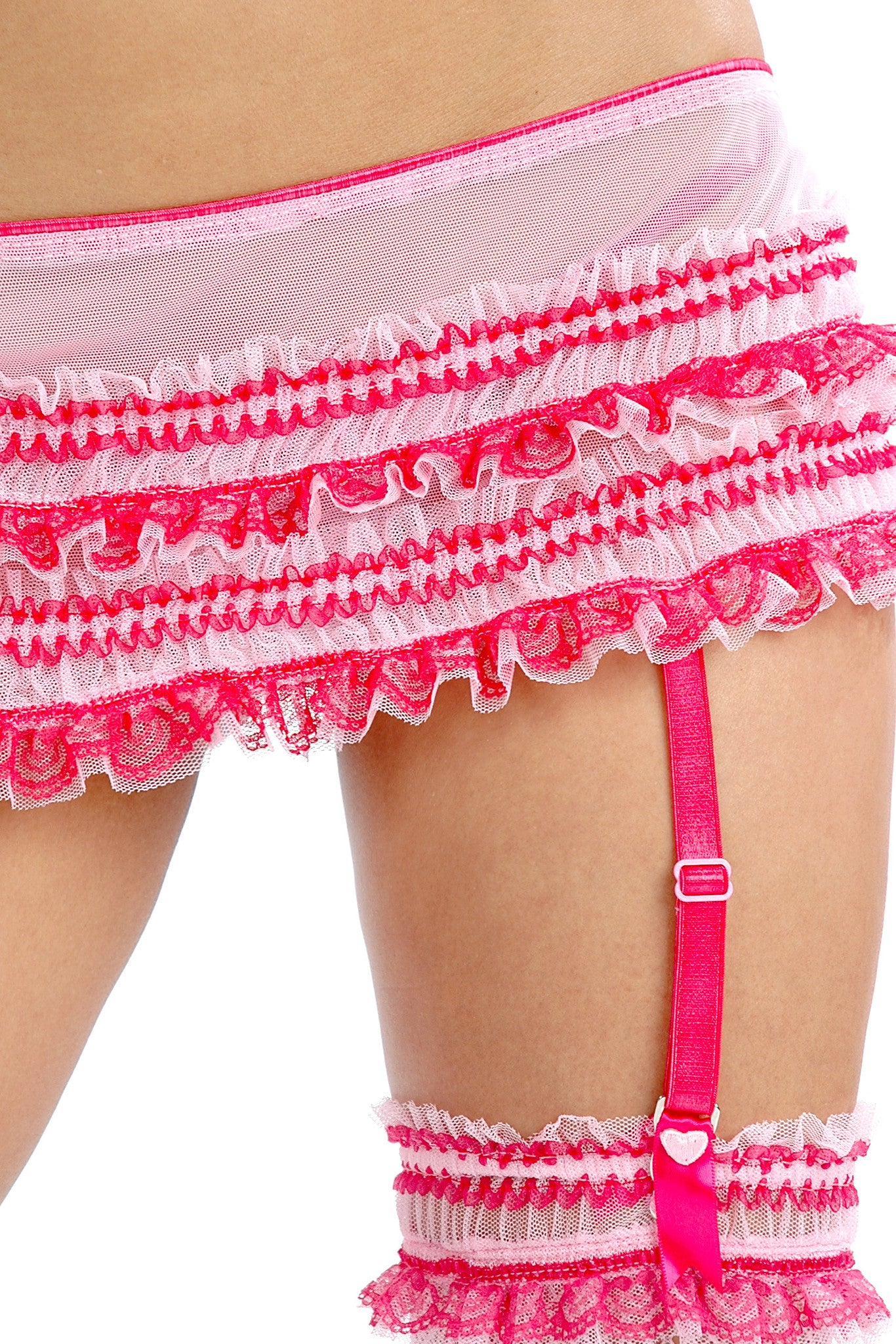 Carousel Straight-Front Bow-Back Garter Skirt