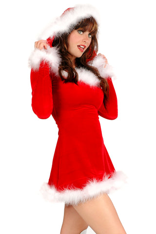 Punky Santa Hooded Dress