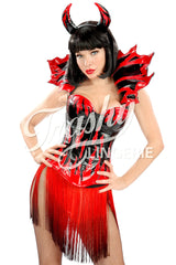 Flamin' Hot Devil Corset with Collar