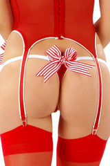 Sheer Peppermint Fancy Thong