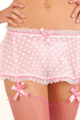 Créme Chantilly Flirty Garter Skirt