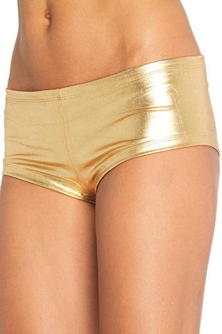 Gold Lamé Booty Shorts