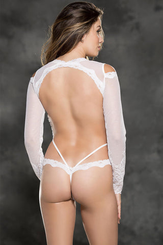 Open Back Long Sleeve Teddy