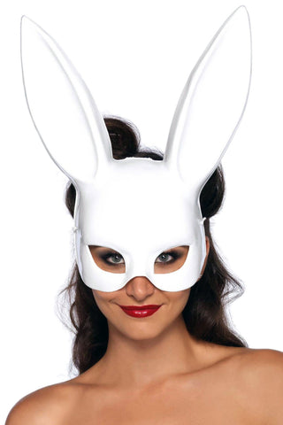 White Masquerade Rabbit Mask