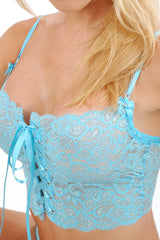 Sterling Short Lace-Up Camisole