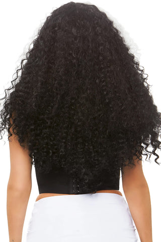 Long Curly Black/White Wig