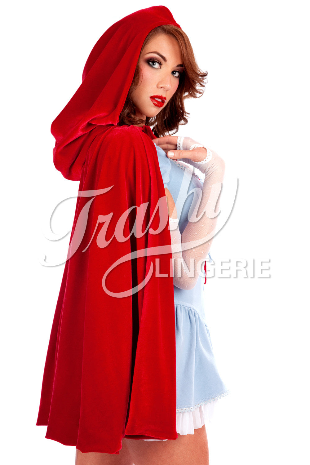 Hollywood Red Riding Hood Velvet Cape