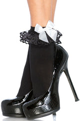 Ankle Socks with Ruffle & Bow