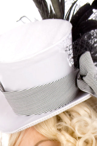 Satin Cigarette Girl Hat