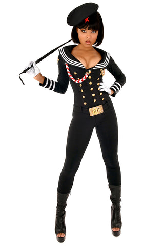 Russian Sailor Catsuit with Belt