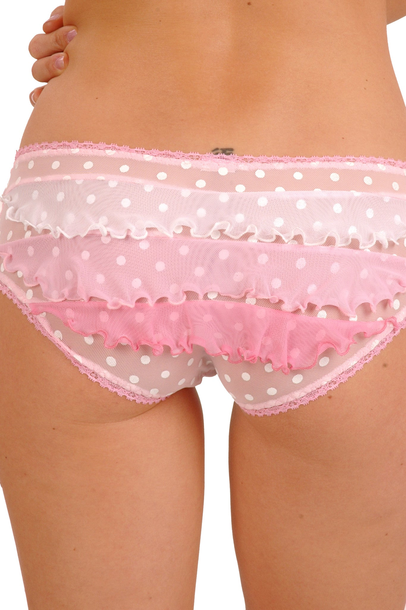Créme Chantilly Cabbaged Blender Ruffle-Butt Panty