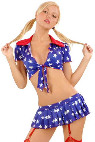 Star-Spangled Cabbage Tie Top