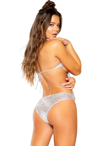 Sequined Star Cut Bodysuit