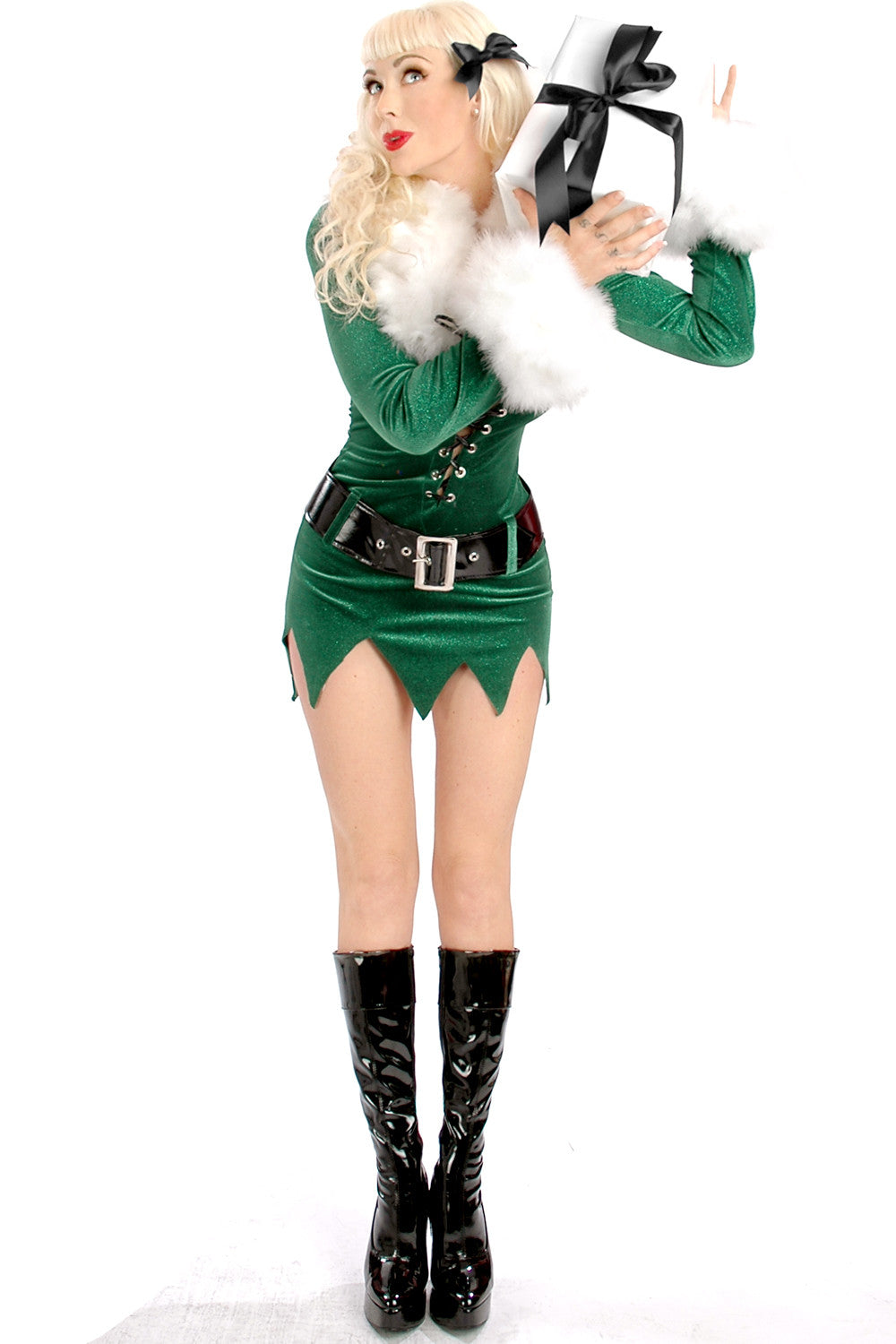 Elf Dress with Deluxe Swan Feathers