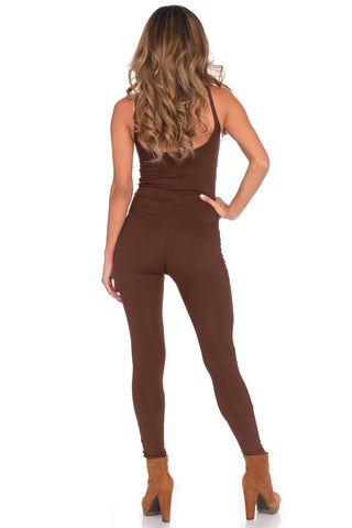 Basic Brown Catsuit