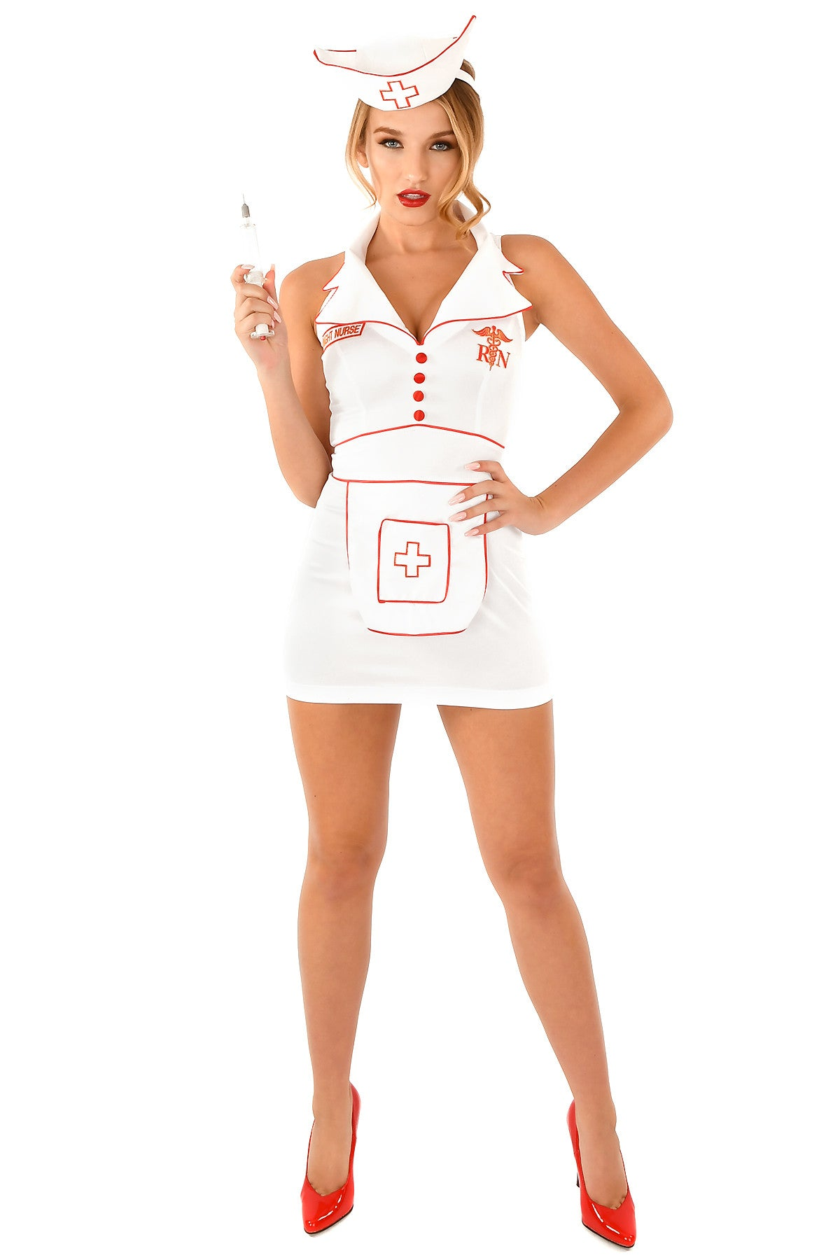 2pc Night Nurse Dress & Hat