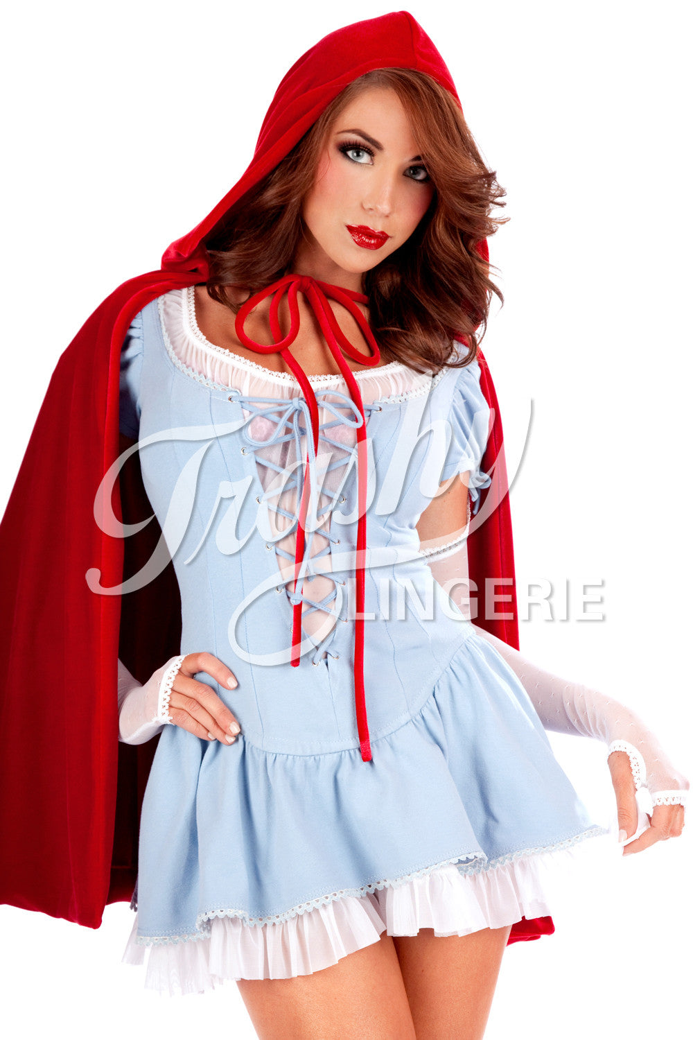 Red riding hood Plus size Halloween apron costume