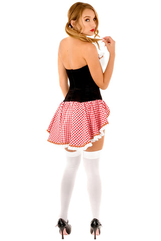 Red Hot Riding Hood Corset with Skirt