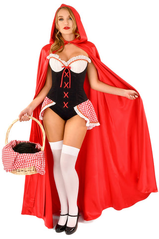 Red Hot Riding Hood Cape with Hood