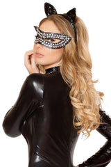 Rhinestone Kitty Mask