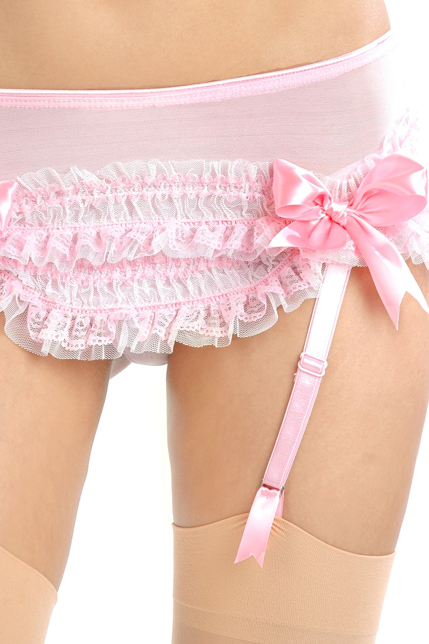 Carousel Scoop-Front Garter Skirt