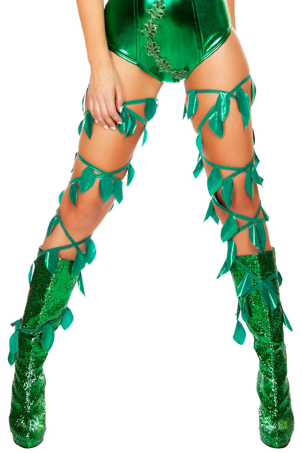 Green Leaf Leg Wraps