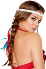 Braided White Headband